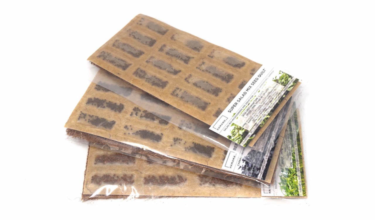 Seed Quilt refill pack for microgreens growing kit.  Choose from broccoli, cabbage, daikon radish, kale, salad mix, zesty mix, clover, wheatgrass, and arugula microgreens.