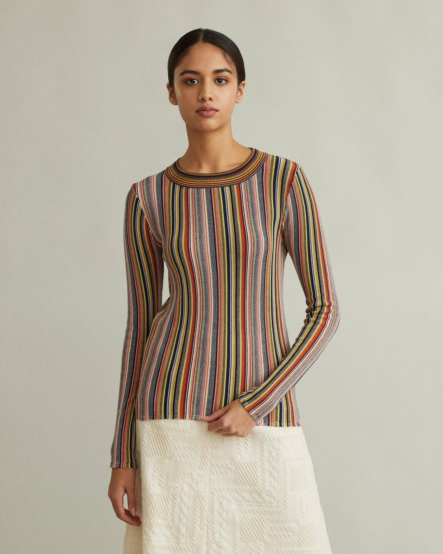 /products/valla-multicolored-striped-sweater