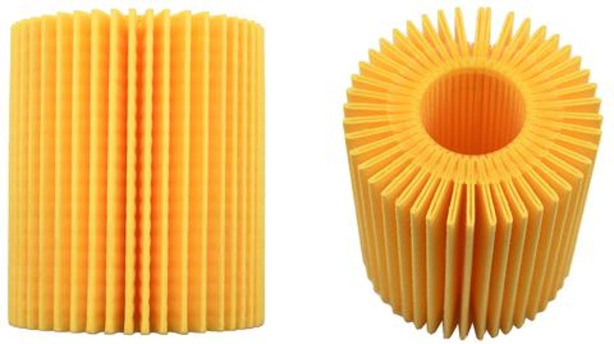traditional spin on canister style filter for Toyota, Lexus or Scion vehicles - yellow filter