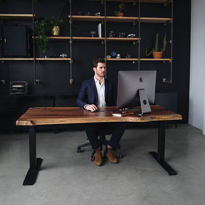 Walnut live edge desk