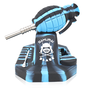 SAMURAI BLAZE GRENAGE NECTAR COLLECTOR BLUE WITH BLACK STRIPE CAMO