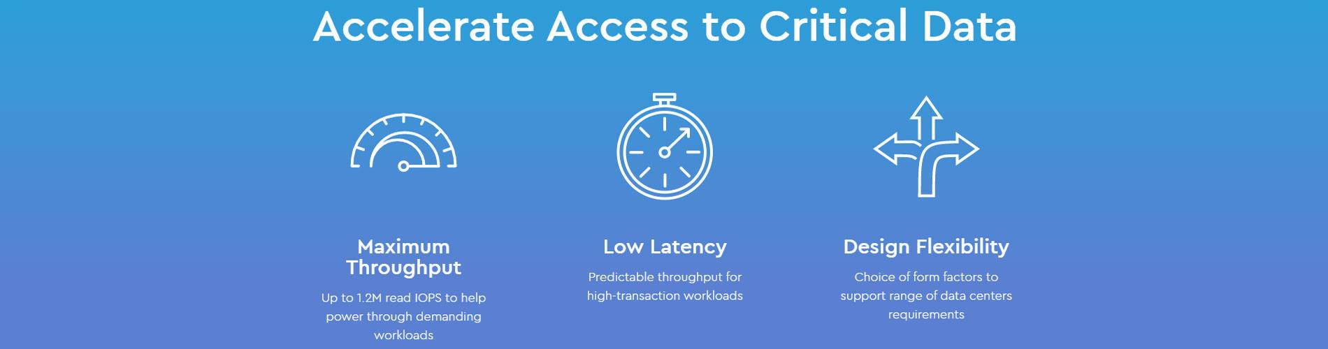 Accelerate Access to Critical Data
