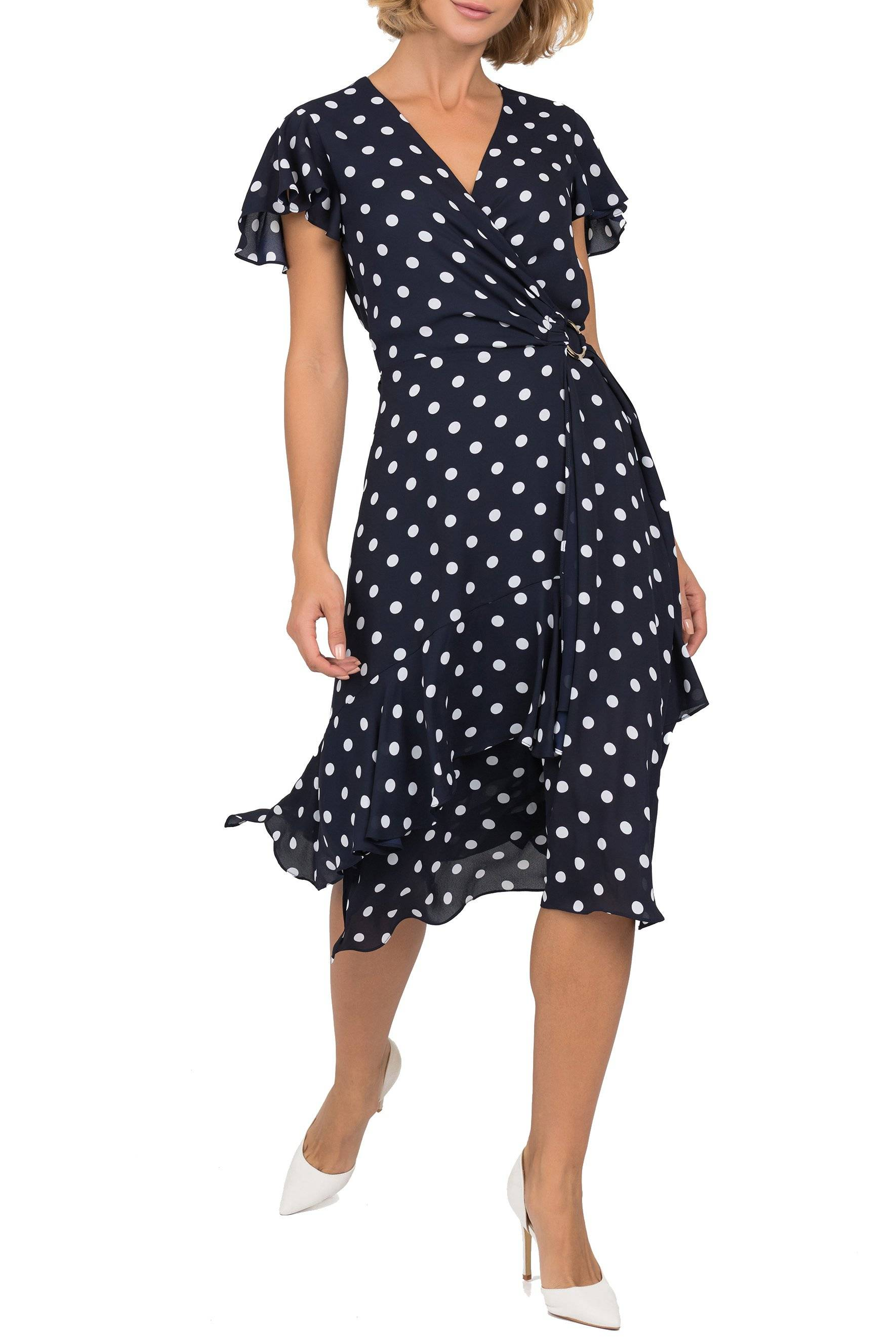 Polka Dot Wrap Dress - 191616