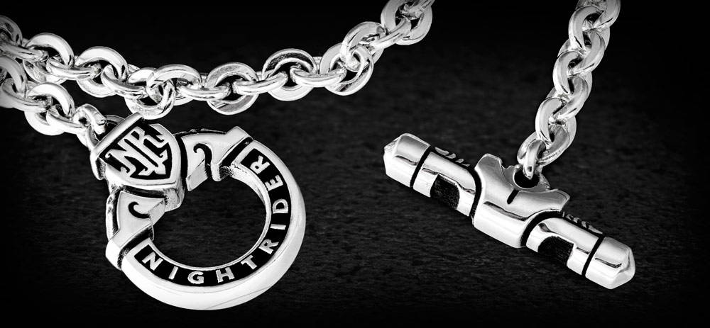 Eden Toggle Chain by NightRider Jewelry - Close Up