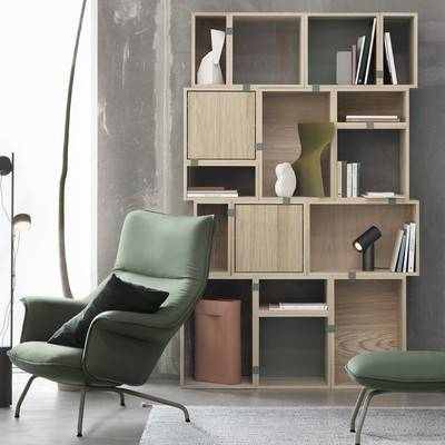 Modern Livingroom Furniture, Bookcases, Muuto Stacked Collection