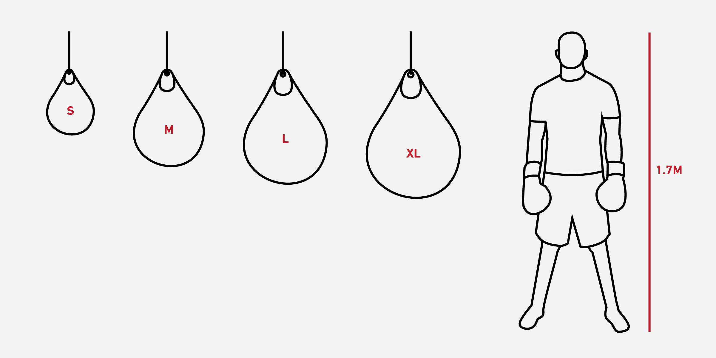 Water bag sizing illustration