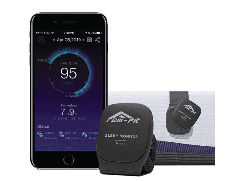 Sleep technology with iPhone and sleep monitor