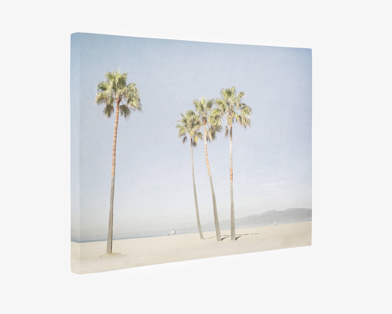 Venice Beach Palm Trees Canvas Wall Art