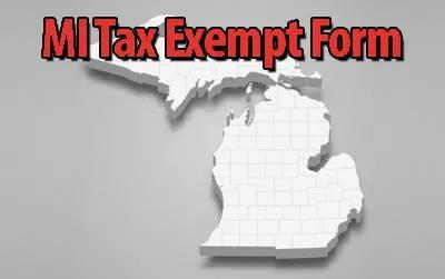 MI Tax Exempt Certificate