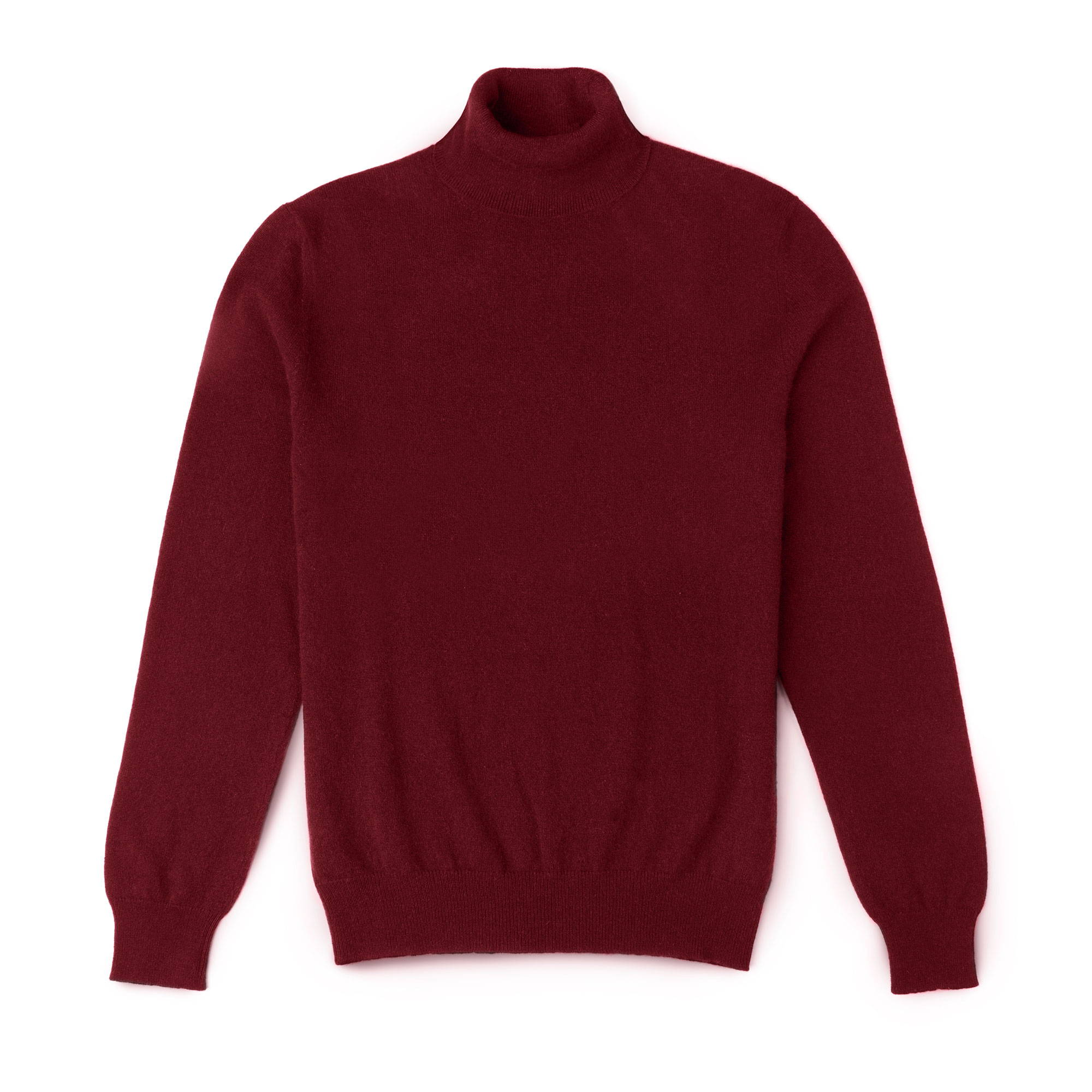 Luca Faloni Lava Red Pure Cashmere Roll Neck Made in Italy