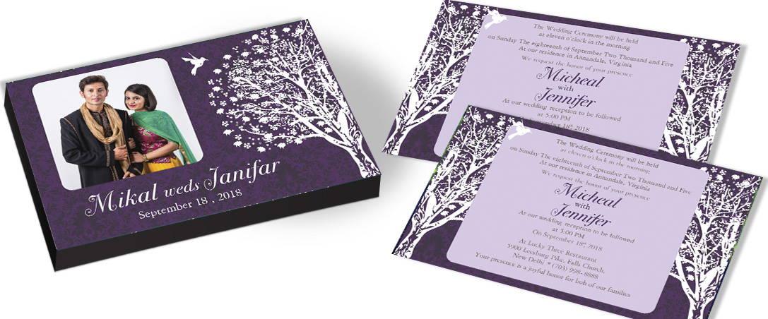 Photo invitation for Tree theme Wedding