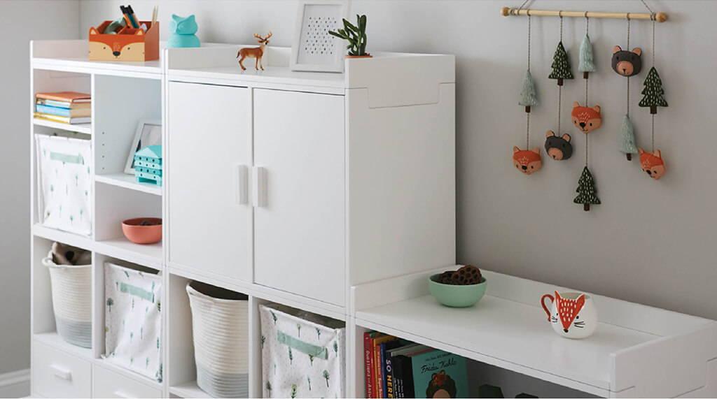 Children's playroom storage furniture