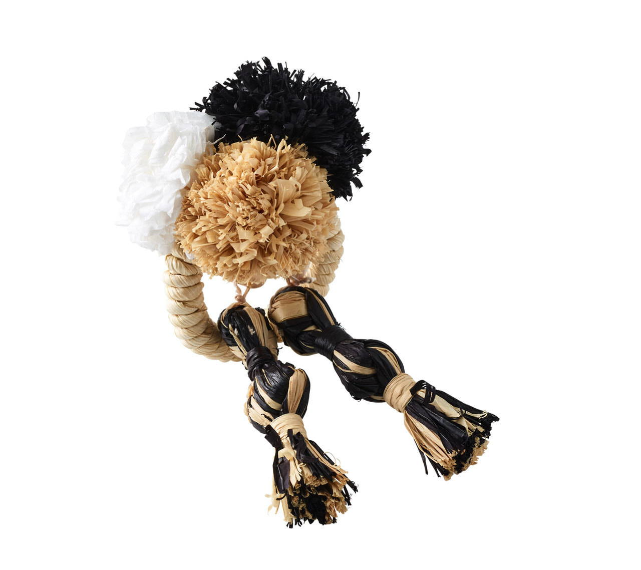 FIESTA NAPKIN RING IN IVORY & BLACK