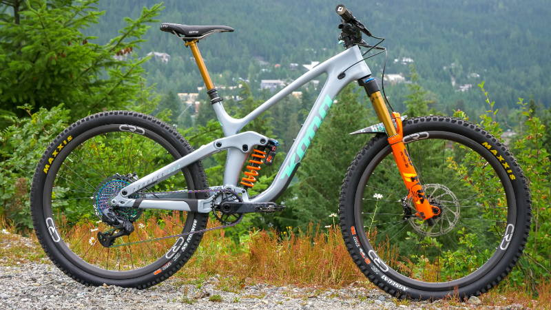 custom kona process 153 cr dl carbon 275 27.5 silver teal fox orange 36 factory kashima dhx2 coil shock enduro eagle axs dream build mountain bike mtb enduro