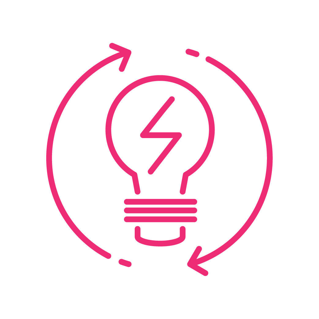 neon efficiency icon