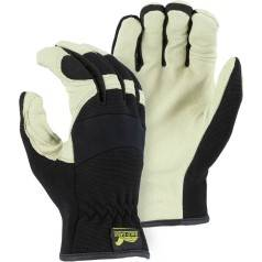 Mechanics Gloves with Slip-On Elastic Cuff from X1 Safety