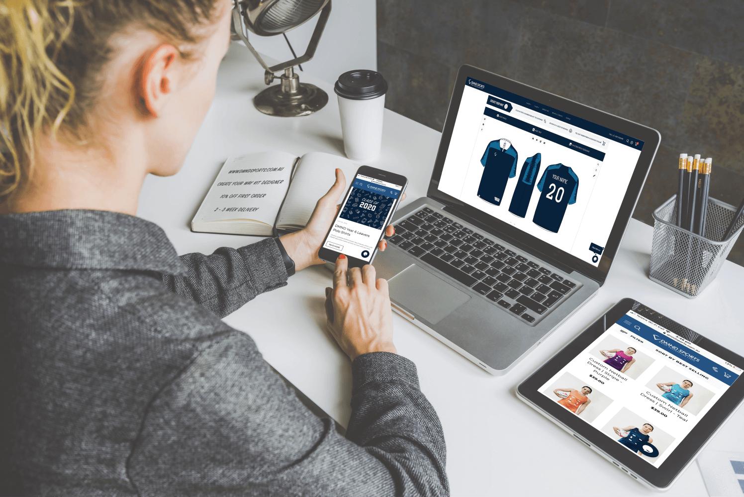 DMND Makes Ordering Custom Sportswear Online Easier!