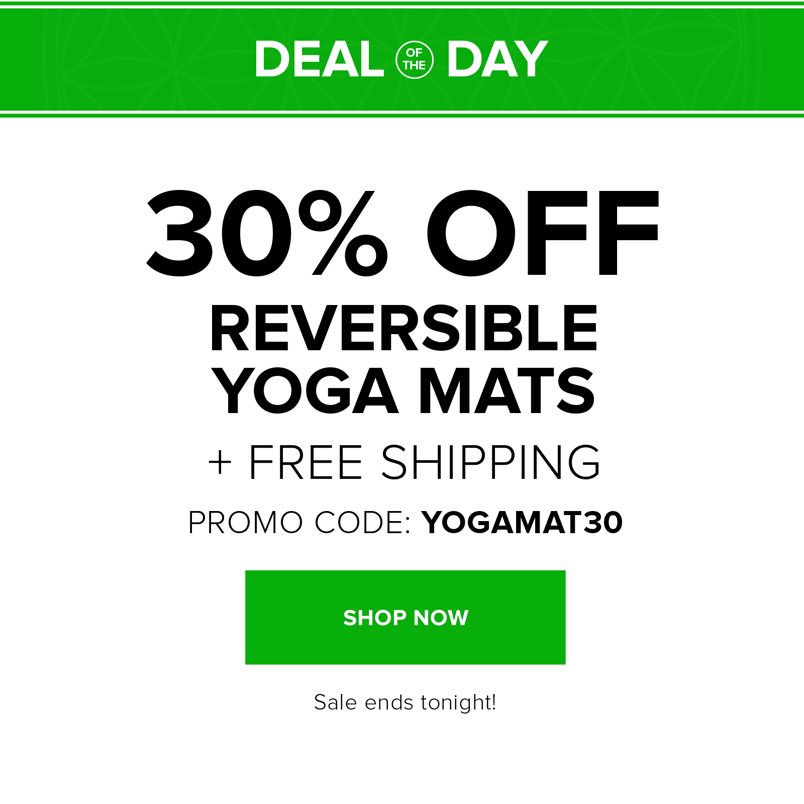 30% off reversible mats with code YOGAMAT30