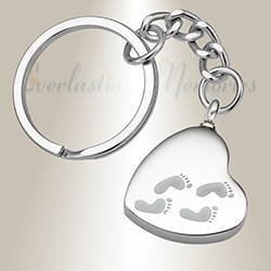 Stainless Steel Traveling Heart Cremation Keychain