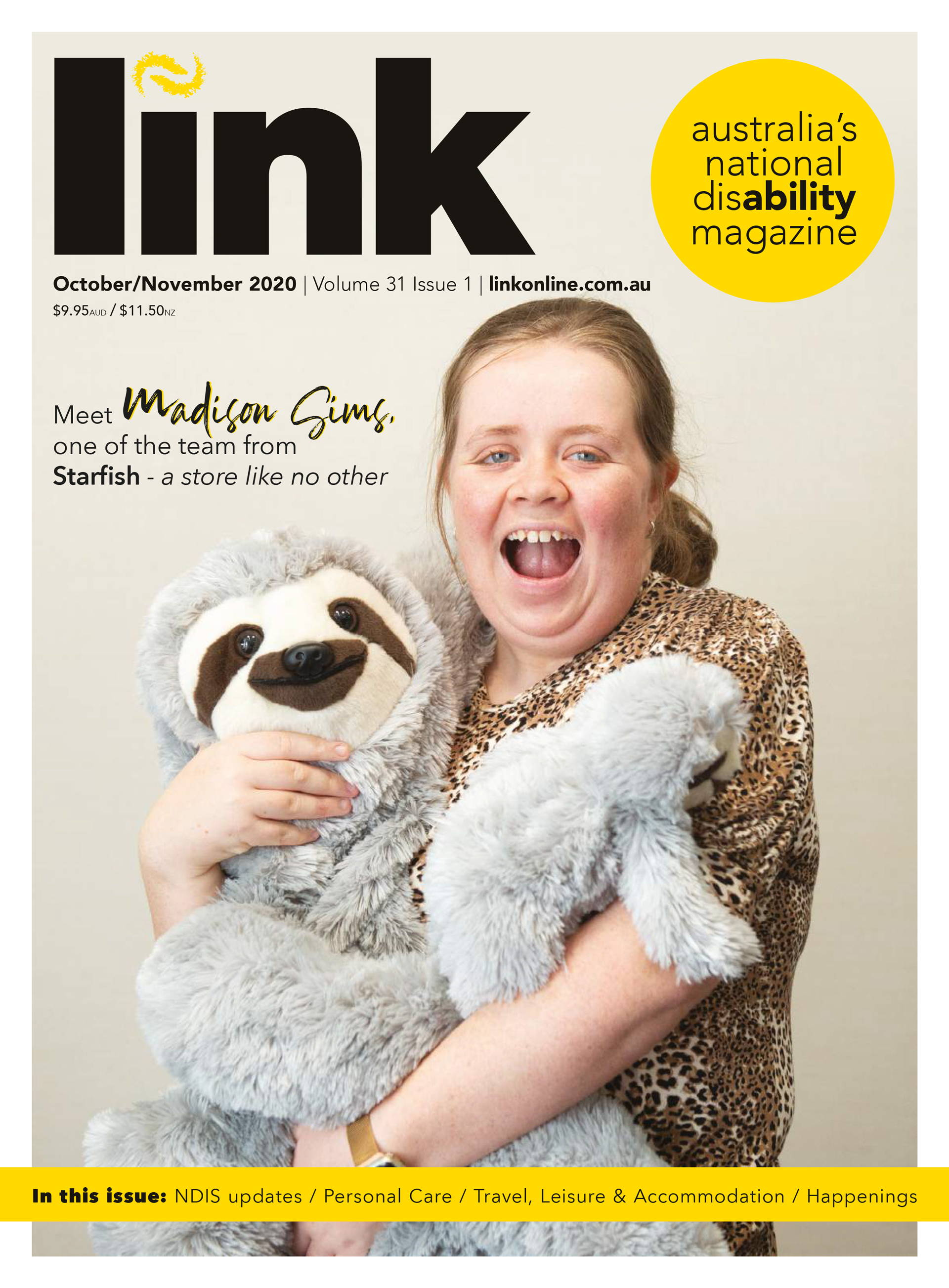 Dawn Clocks Featured in Link DisAbility Magazine October/November 2020 Edition.