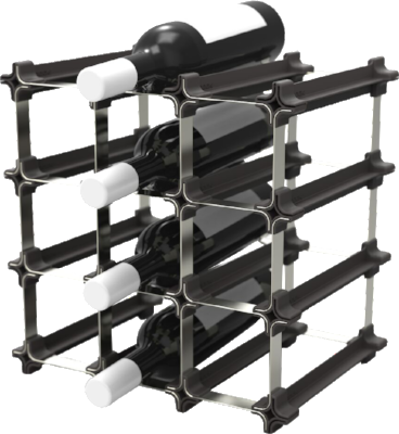 free standing wine rack for 12 bottles
