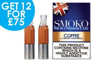 offres de recharge de vape aromatisées au café