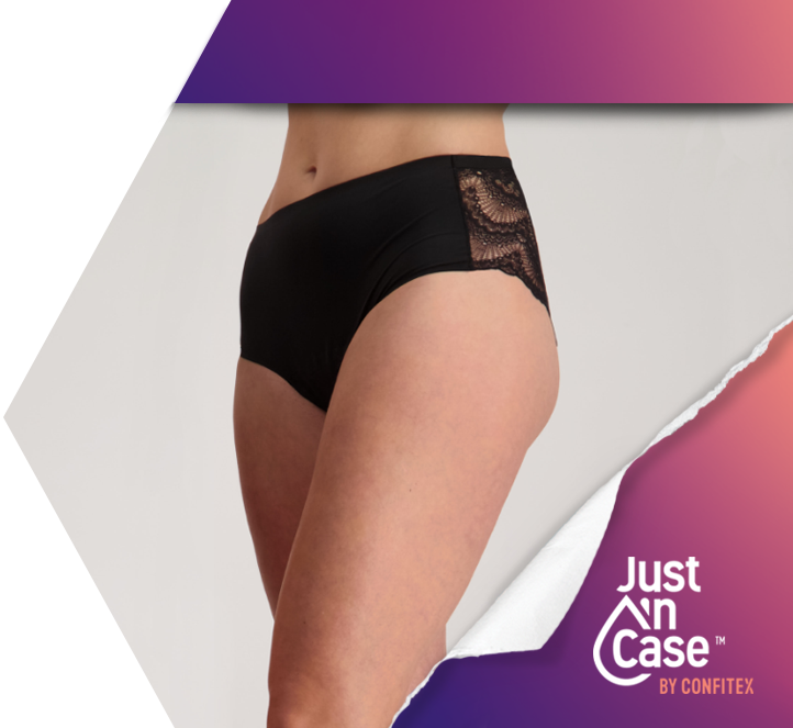 Shop Just'nCase - Pee Panties, Period Underwear and Breast Pads