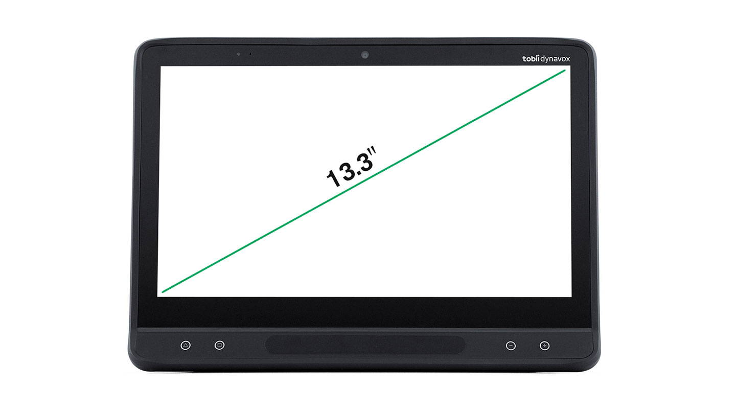 Tobii Dynavox I-Series I-13 with size measure