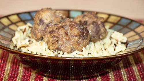 Meatballs in a dish