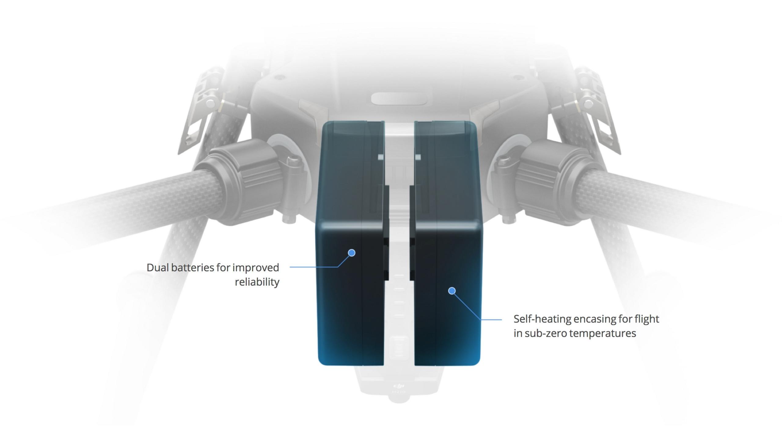 DJI Matrice 200 Series Dual Battery Setup