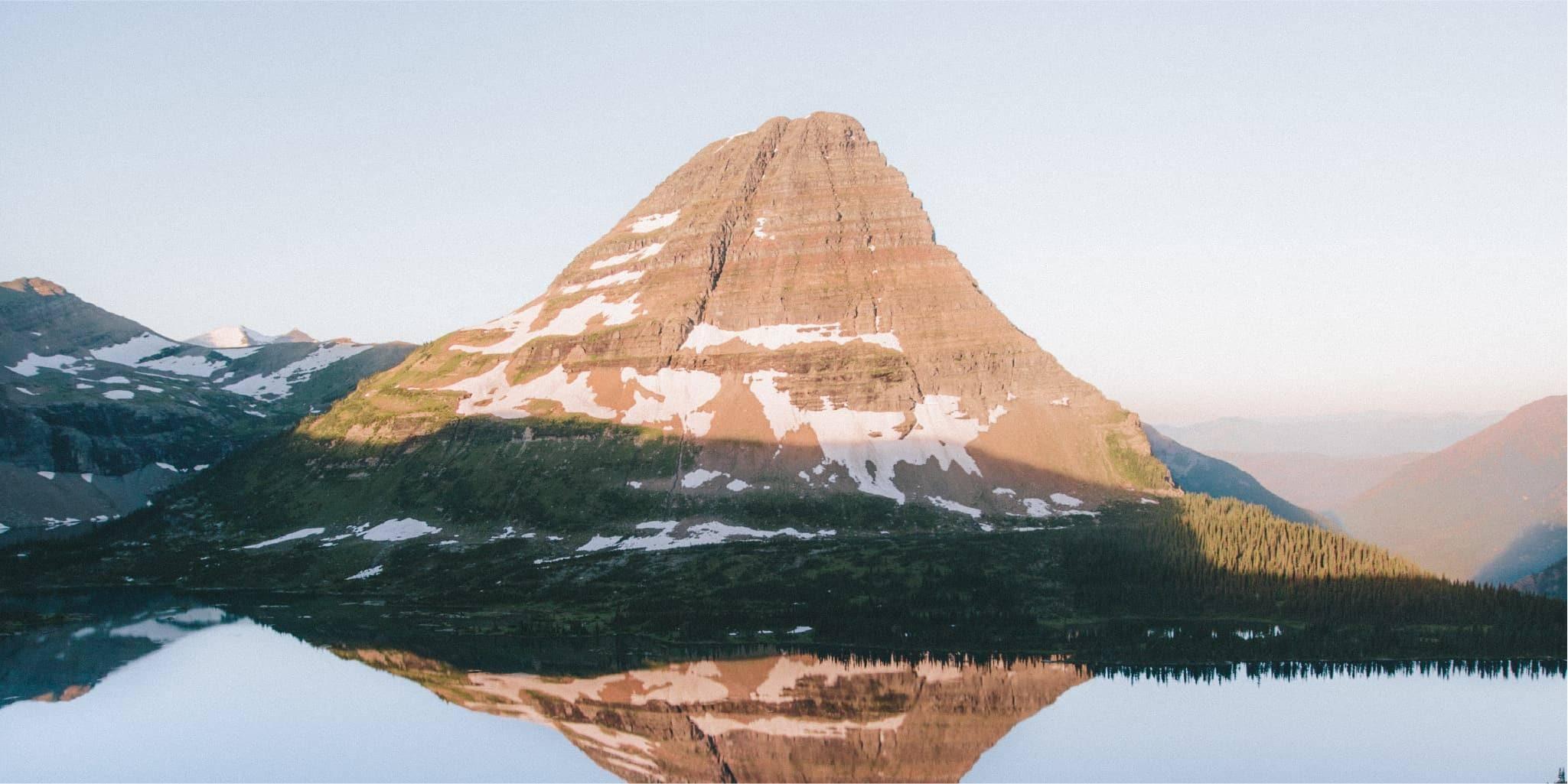 Mountains over a reflective lake