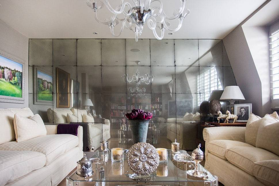 Antique Mirrored Panels as a decorative accent