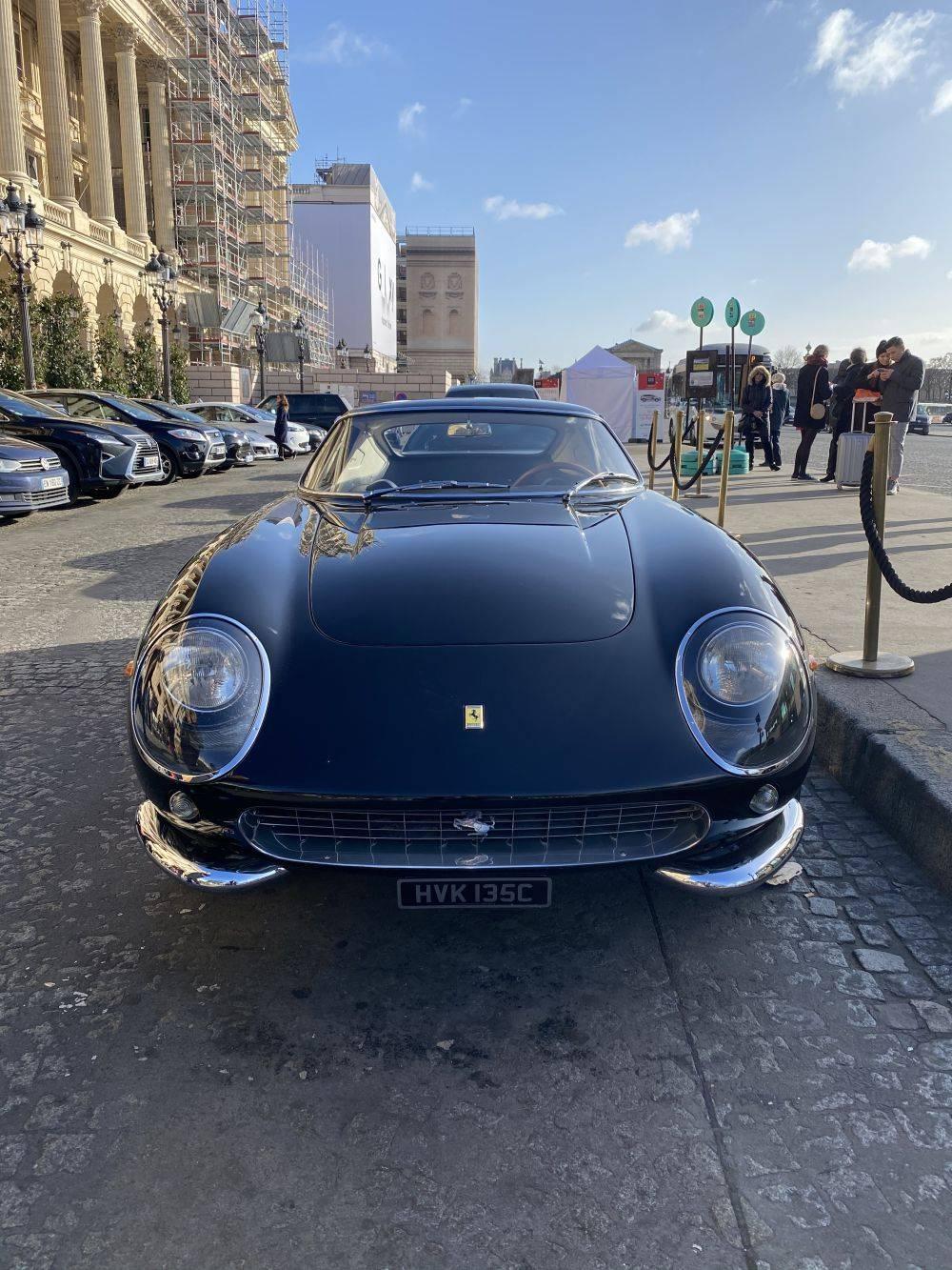Vintage Ferrari on the streets of Paris
