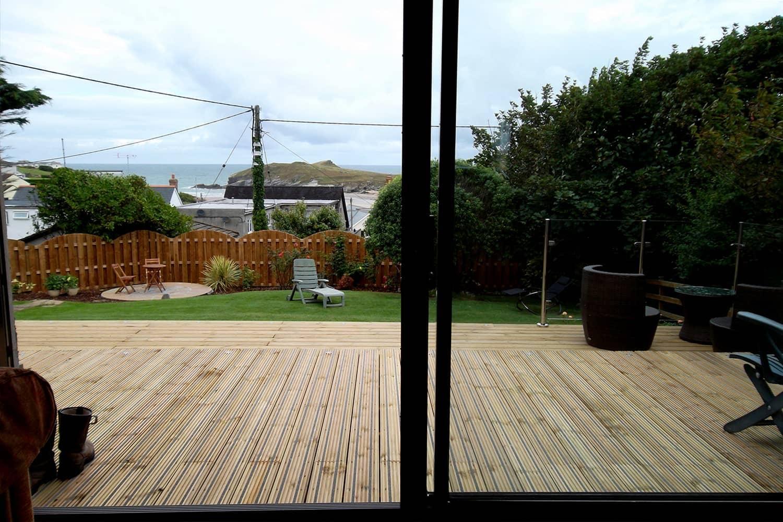 Terrasse antidérapante pour jardin privé