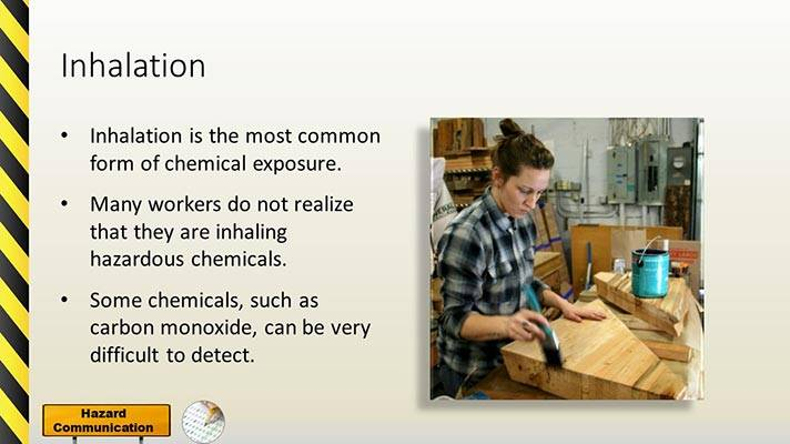Hazard Communication PowerPoint Slide Inhalation