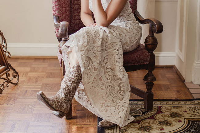 Bride Mother of the Dresses Worn with Cowboy Boots