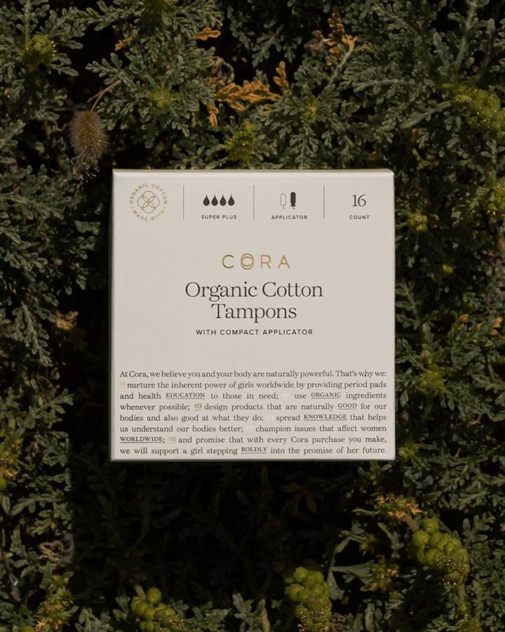 A shot of Cora packaging.