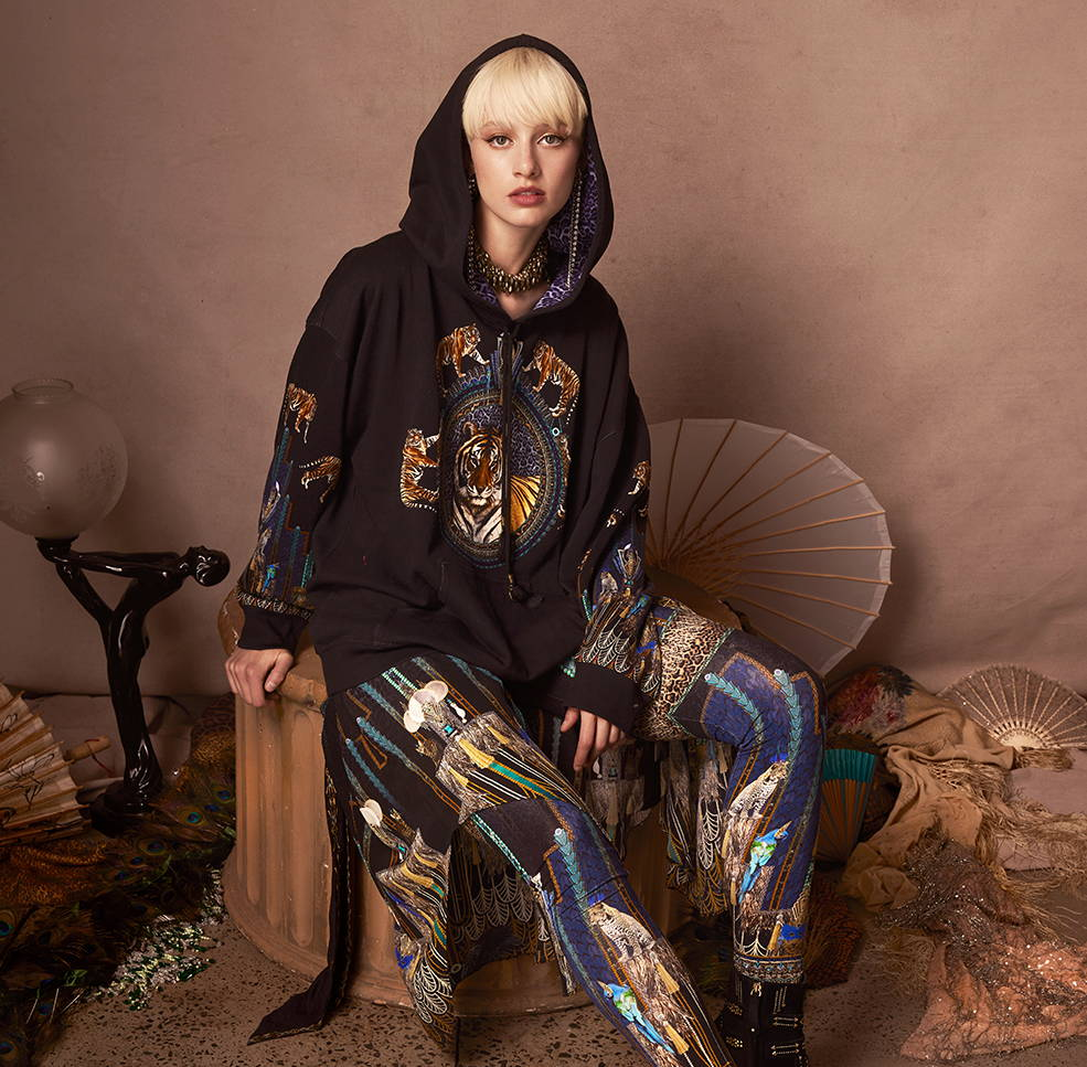 CAMILLA Dripping In Deco Oversized Hoodie and Leggings