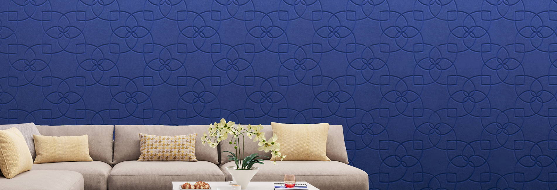 blue ora v links pattern