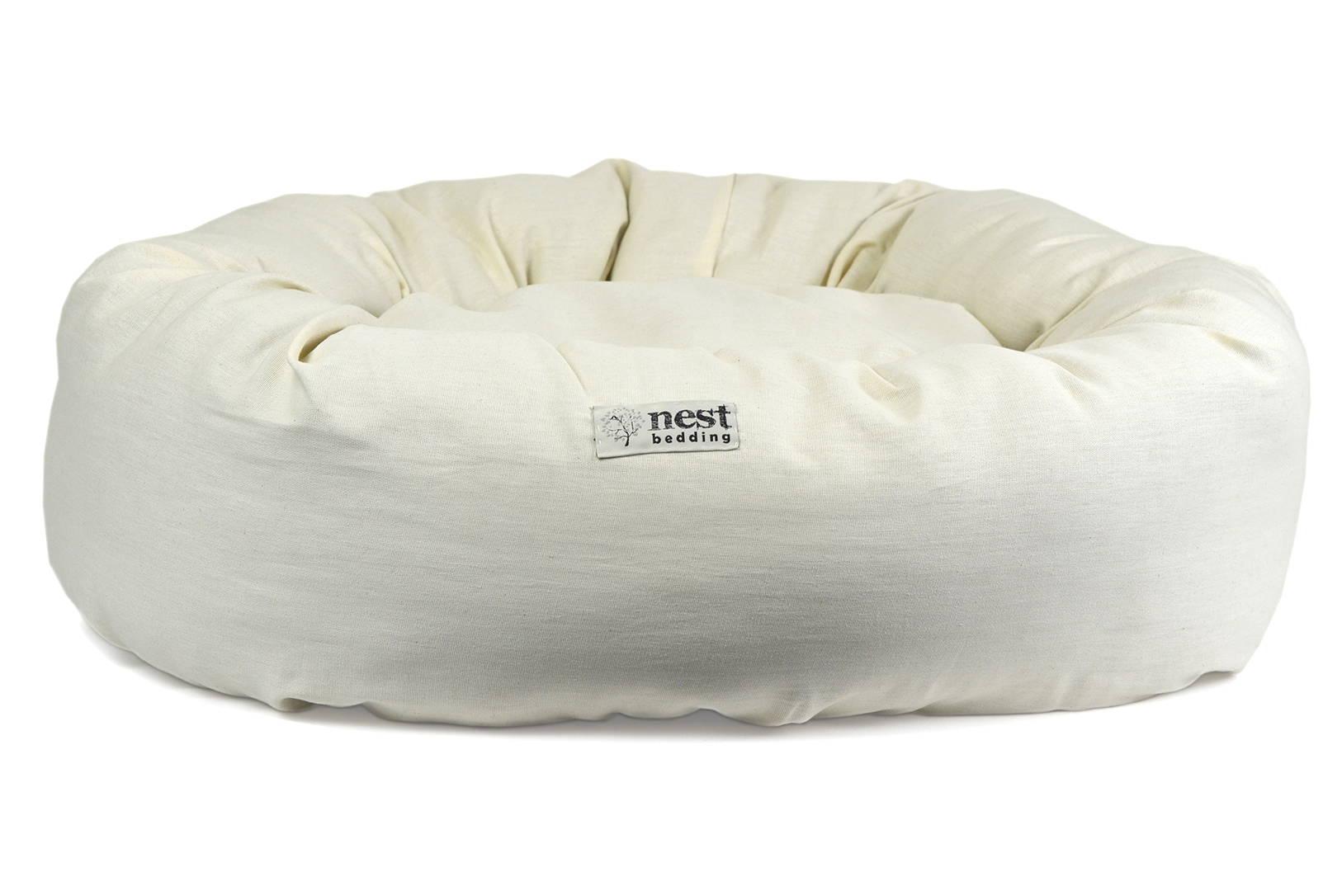 Bolstered Natural Pet Bed