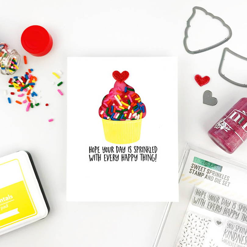 UWF Sweet Sprinkles shaker card by Carly Tee