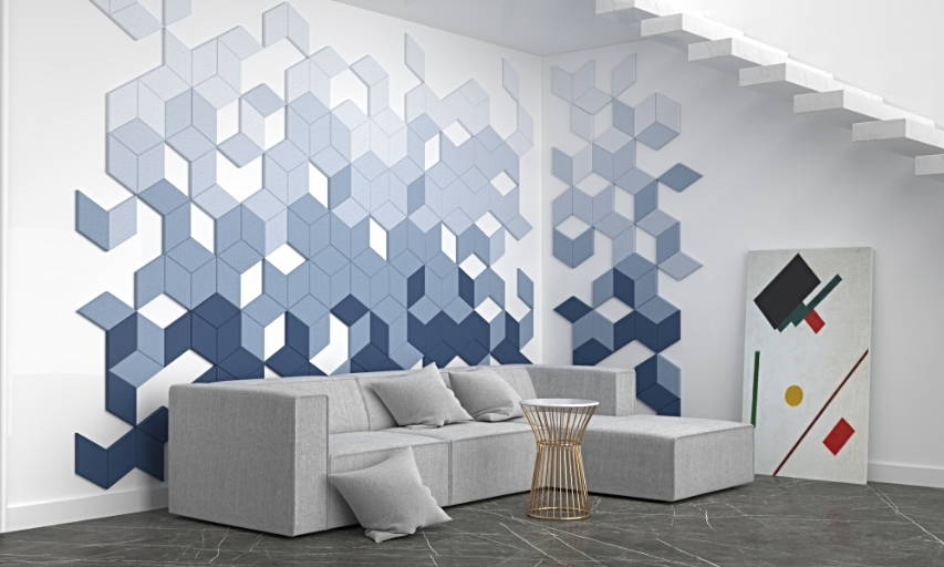 Fluffo edge acoustic 3D wall panels