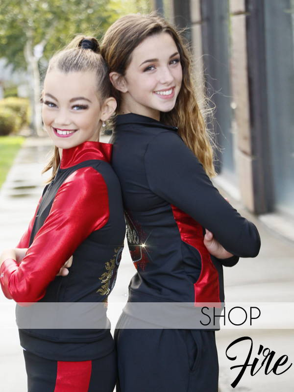 fire collection cheer apparel by glitterstarz