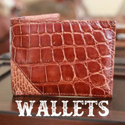 Genuine Alligator Leather Wallets For Men