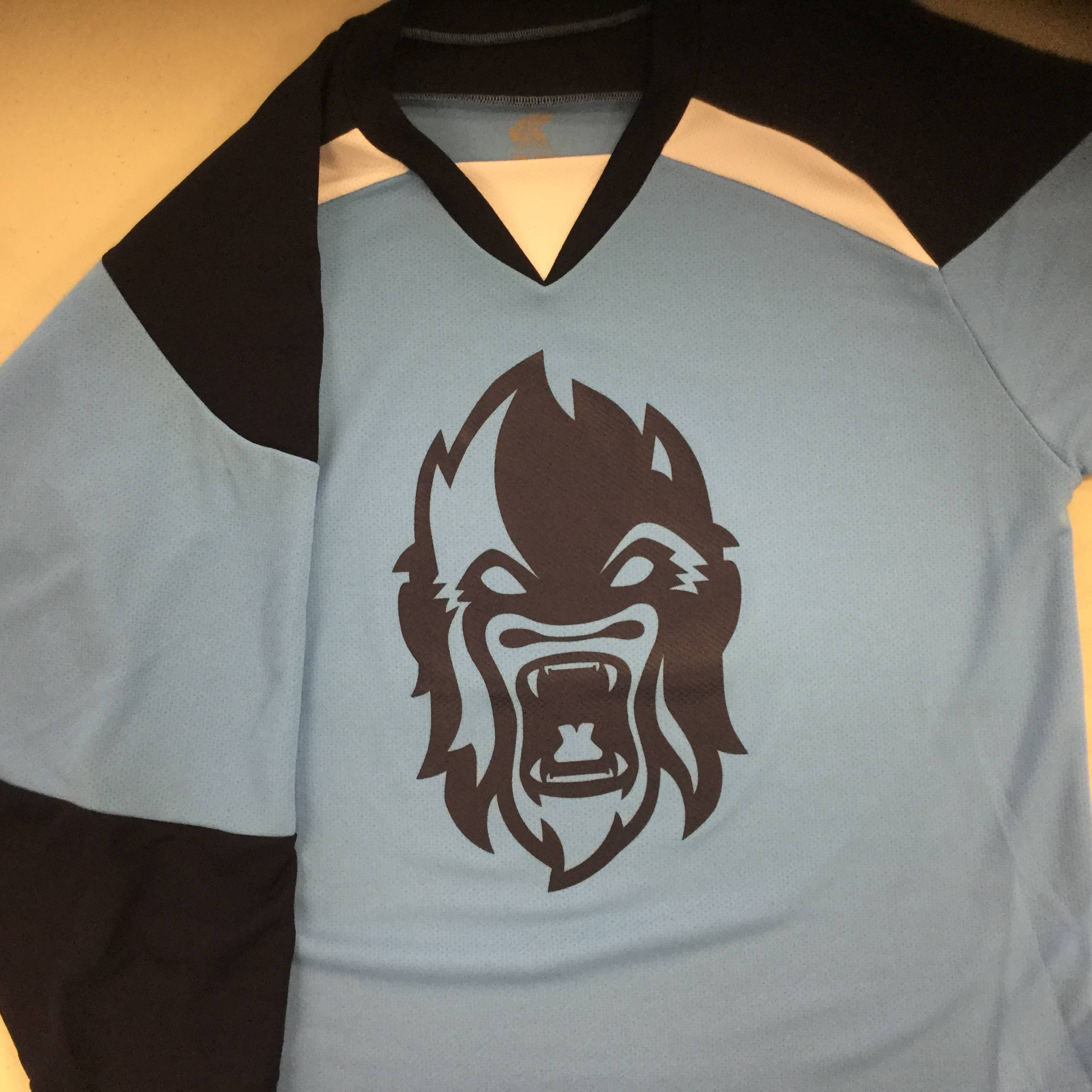 Custom Hockey Jersey Example Silverbacks Kobe XJ5