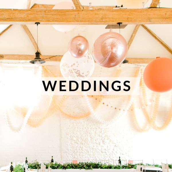 Wedding decorations, favours, confetti and styling