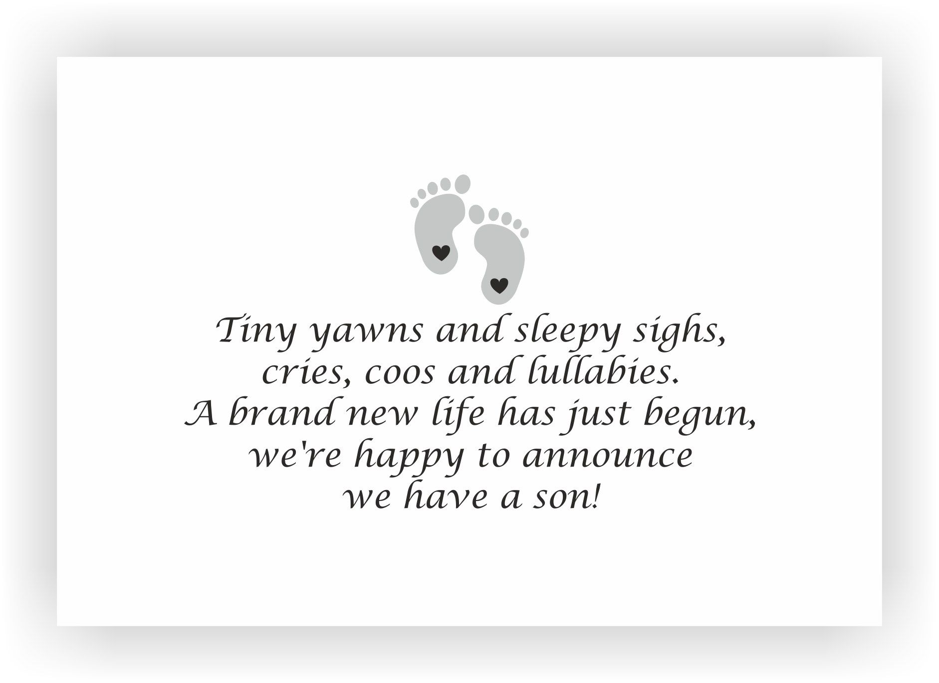 baby boy announcement message 23