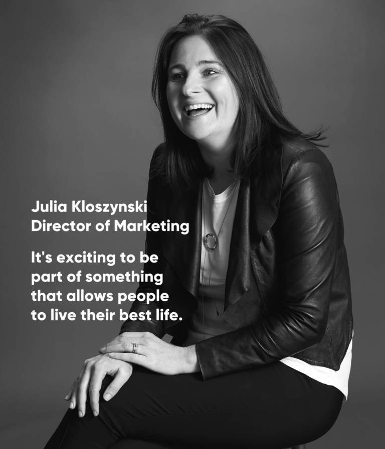 Julia Kloszynski, Director of Marketing