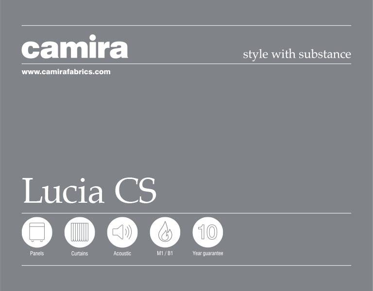 Click here to view the Camira Lucia CS Acoustic Fabric Swatch