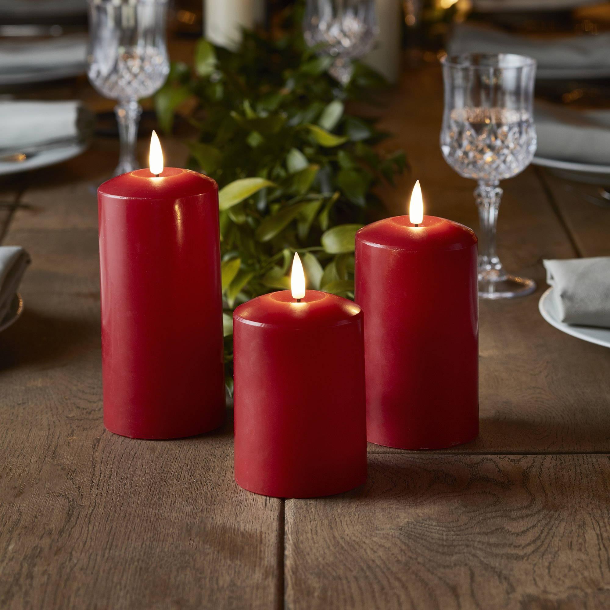 Bougies de Noël Rouge